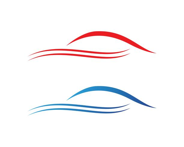 Logotipo de silhueta de carro Vector app de ícones de modelo