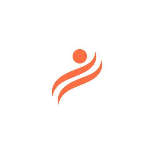 menselijke pictogram logo ontwerpsjabloon vectorillustratie