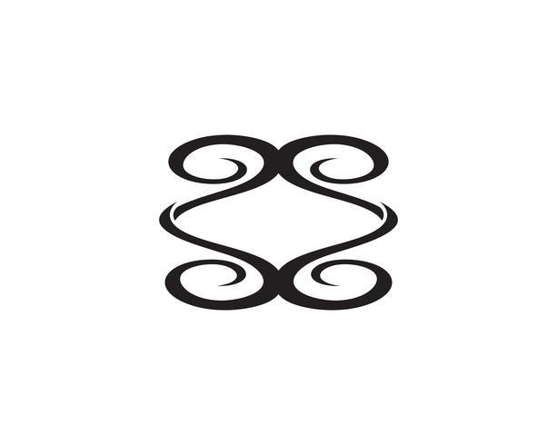 modello di logo e simbolo di natura verde foglia