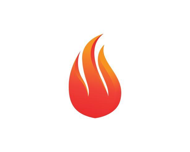 Aplicación de iconos de logotipo y símbolos de fuego.