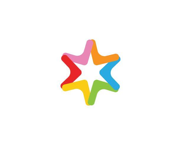 Stern Logo Vorlage Vektor Icon