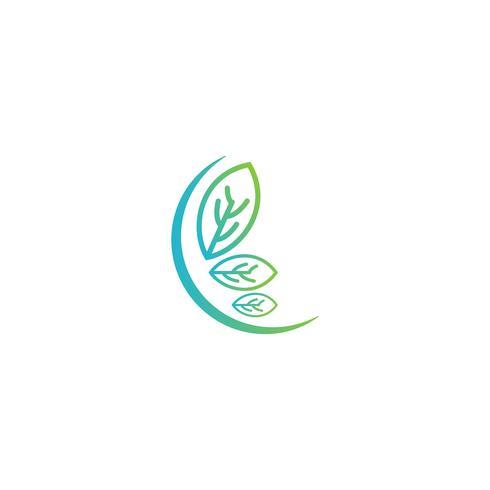 naturblad logo design vektor illustration ikon element