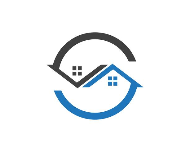 Plantilla de iconos de símbolos y símbolos de edificios de casa ... vector