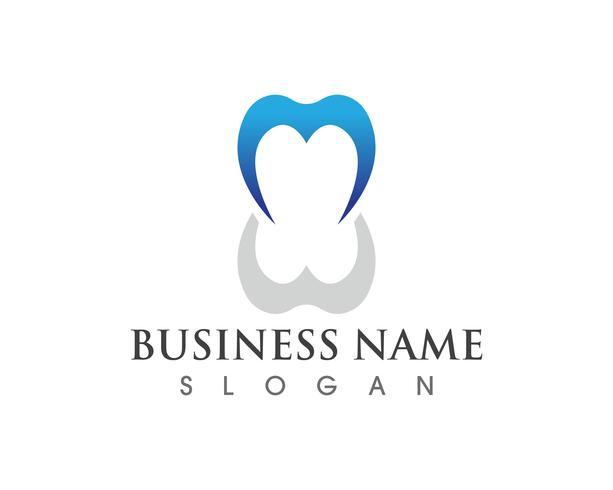 App de modèle de logo de soins dentaires et icônes icônes