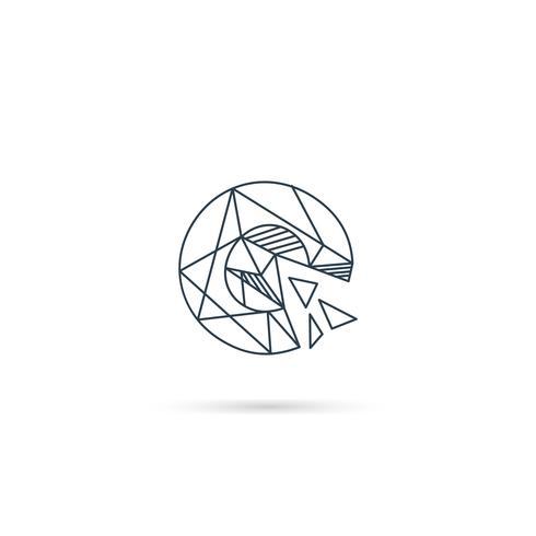 edelsteen letter c logo ontwerp pictogram sjabloon vector geïsoleerde element