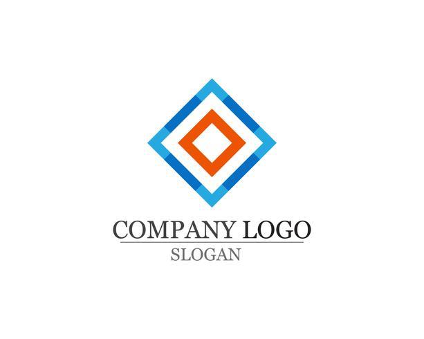 Icone astratte del modello di progettazione di logo di affari app