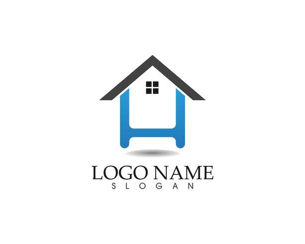 modèle d'icônes logo et symboles maison bâtiments vecteur