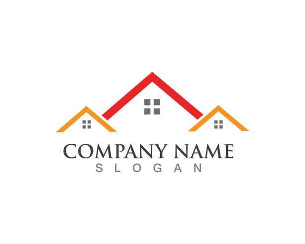home buildings logo and symbols icons template