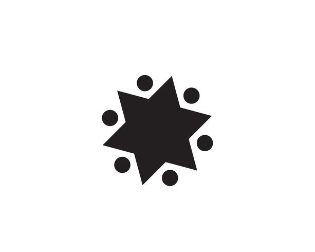 Sternlogoschablonenvektor-Ikonenillustration