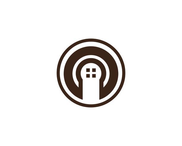 hembyggnader logotyper och symboler ikoner mall ..