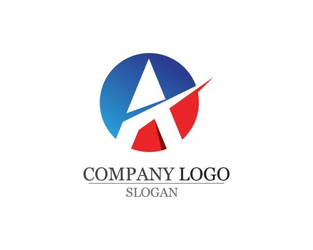 Una lettera Logo Business Business Template Icone vettoriali