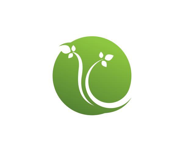 Grünes Blatt Ökologie Natur Element Vektor Icon ..