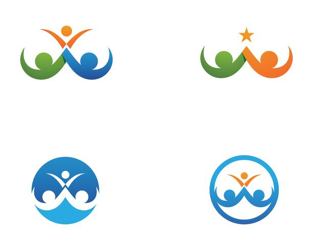 modello di logo e simboli di amore di cura della famiglia ..