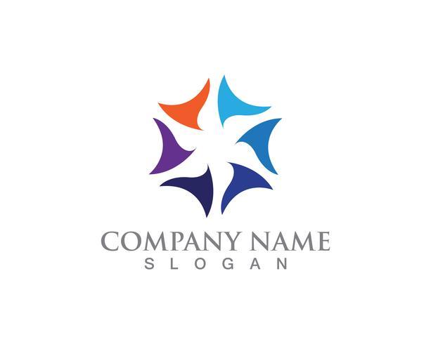 vortex cirkel logo en symbolen sjabloon pictogrammen app