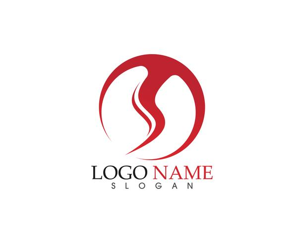 Plantilla de iconos de logotipo y símbolos de la naturaleza de la llama de fuego