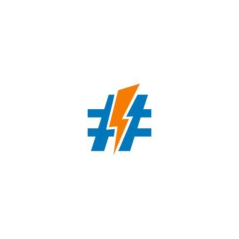 flash blikseminslag creatieve logo sjabloon vectorillustratie