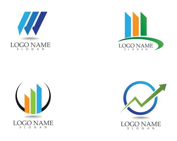 finance logo and symbols vector concept illustration