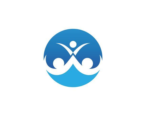 logotipo de amor de cuidados familiares e modelo de símbolos ...