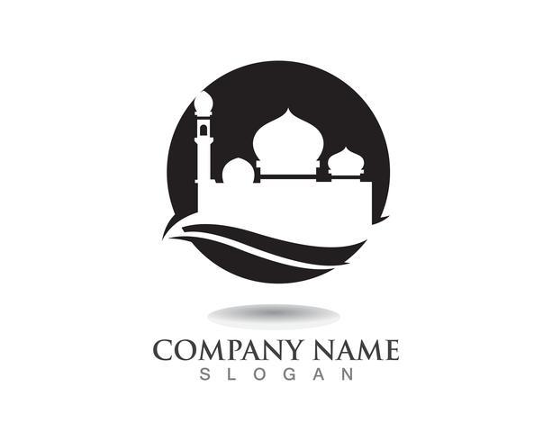 Modello di progettazione dell'illustrazione di vettore dell'icona della moschea