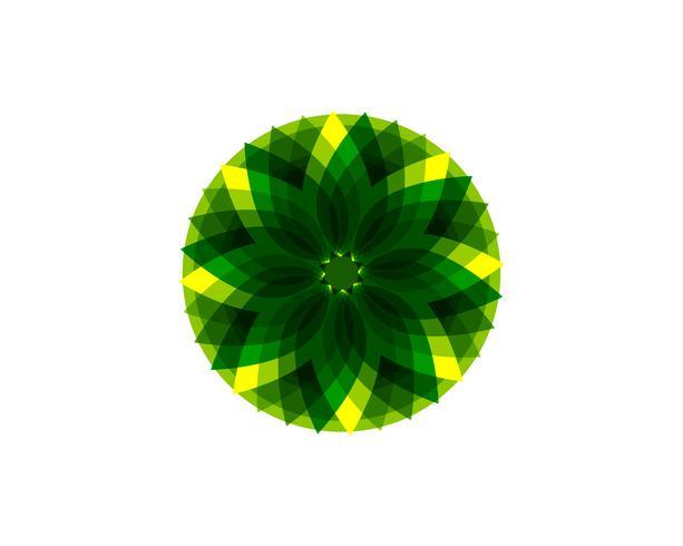feuille verte écologie nature élément vectoriel icône ..