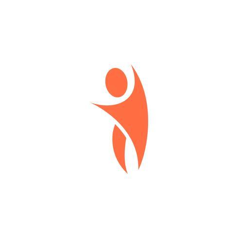 humain icône logo design modèle illustration vectorielle vecteur