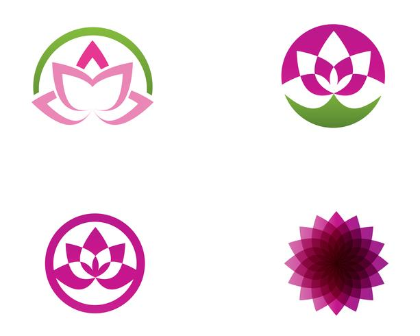 Lotusbloembord voor wellness, spa en yoga. Vector illustratie