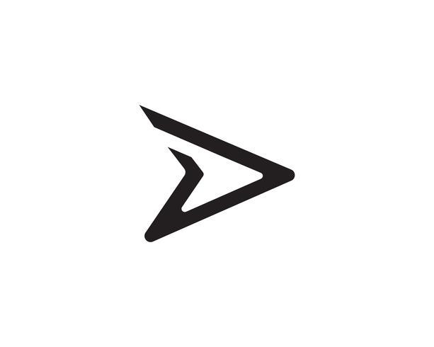 D snellere logo-vector