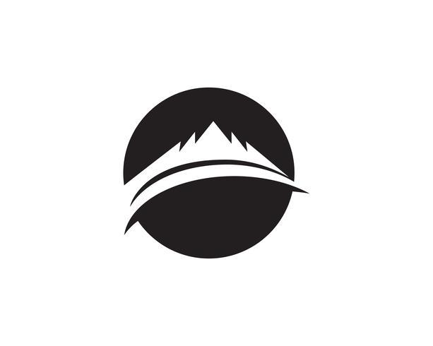 App Logo d'icônes vectorielles en montagne Logo .. vecteur