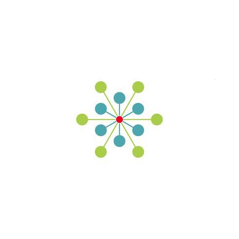 elemento dell'icona dell'illustrazione di vettore del modello di logo della molecola di scienza