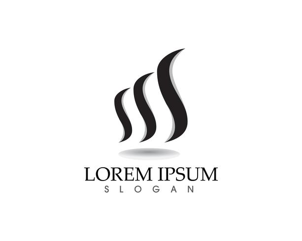 Logotipo de natureza de chamas de fogo e app de modelo de ícones de símbolos