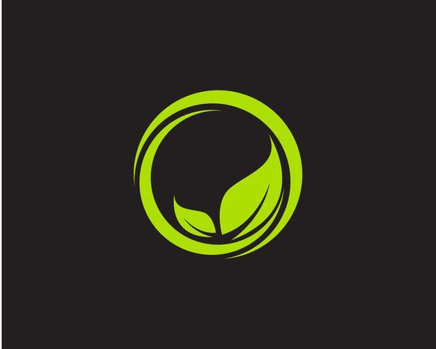 Logo's groene blad ecologie natuurelement vector pictogram