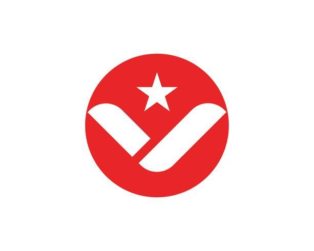 V logo letters business logo and symbols template