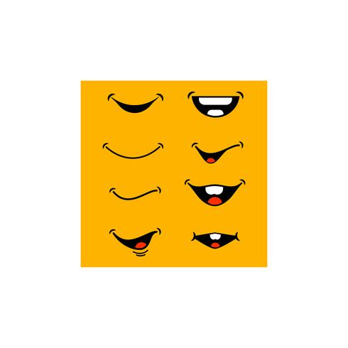 emoticon face symbol or sign collection vector illustration