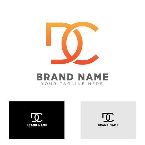 Letra dc logo diseño plantilla vector ilustración para marca de negocios