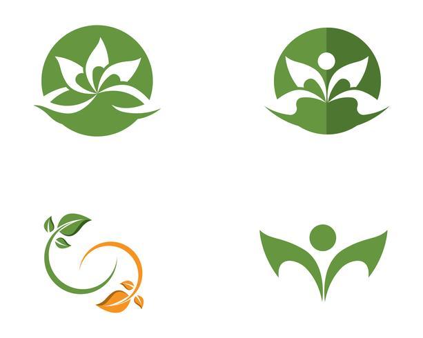 Signo de flor de loto para bienestar, spa y yoga. Ilustración vectorial vector