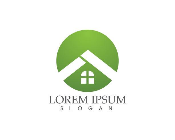 hembyggnader logotyper och symboler ikoner mall .. vektor