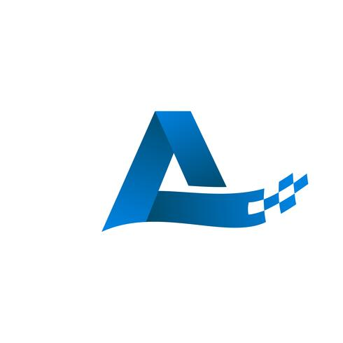 brev A-logotyp. teknologi internet logotyp design koncept mall