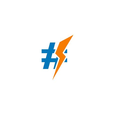 Flash Thunderbolt kreative Logo Vorlage Vektor-Illustration