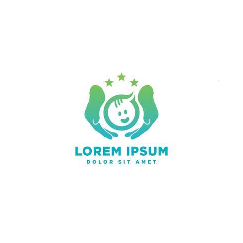 Kinderbetreuung Babypflege Logo Vorlage Symbol Element