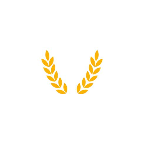 ilustração do vetor do molde do logotipo do vintage da crachá da exploração agrícola da agricultura do ouro