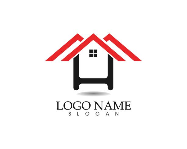 modèle d'icônes logo et symboles maison bâtiments