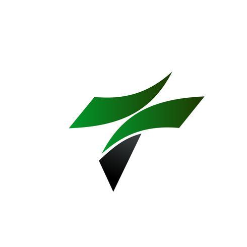 brev t logo design koncept mall