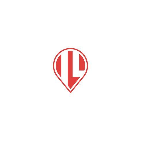 initiales F, FI, IF, IL Logo élément vector illustration élément icône