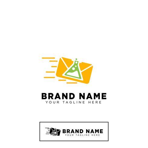 lab meddelande logotyp mall vektor illustration ikon element