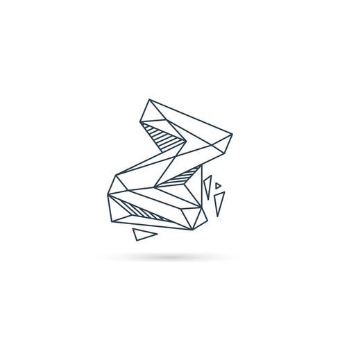 elemento di vettore del modello dell'icona di disegno della lettera z logo della pietra preziosa isolato