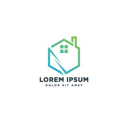 elemento dell'icona dell'illustrazione di vettore del modello di logo del bene immobile della casa