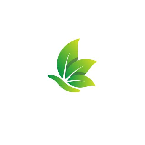 Natur Blatt Logo Design Vektor Illustration Icon-Element