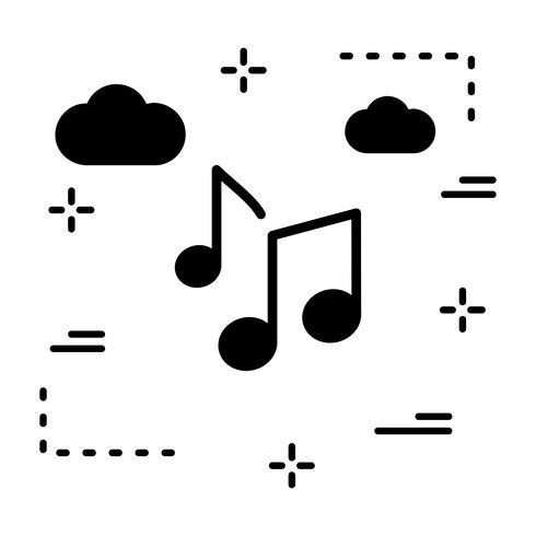 Vector muziek merkt pictogram