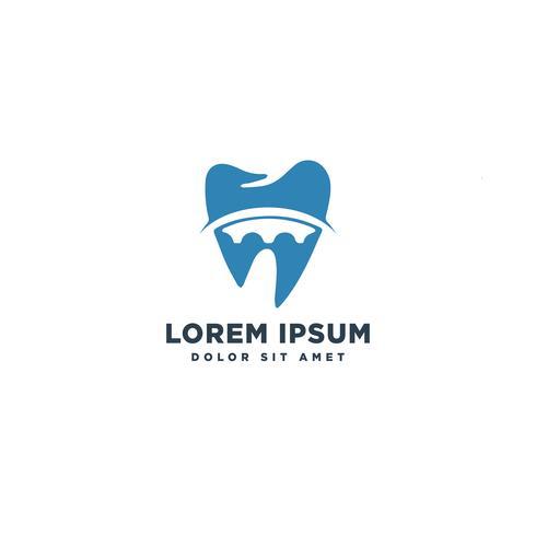 Ilustración de vector de plantilla de logotipo de D dental sana inicial