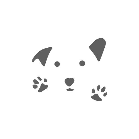 animal care logo design hug dog cat vector isolated icon element